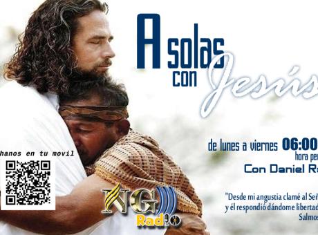 Afiche - A solas con Jesus